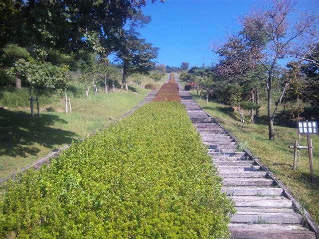 日本一の枕木階段!